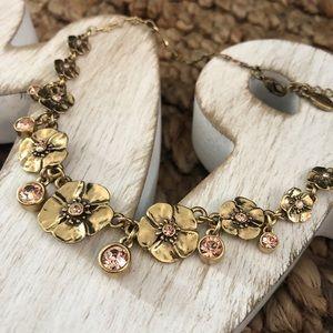 Vintage Pilgrim Danish Design Gold/Pink Flower